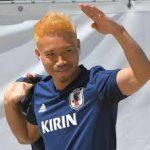 サッカー日本代表 長友金髪イメチェン